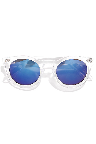 Chic Clear Sunglasses - Blue Mirrored Sunglasses - $10.00