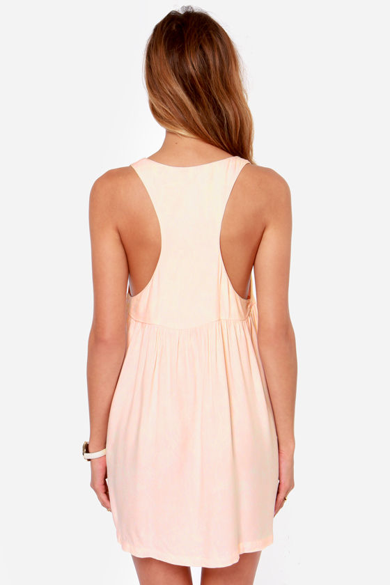 Volcom UR A Pistol Distressed Light Pink Babydoll Dress at Lulus.com!