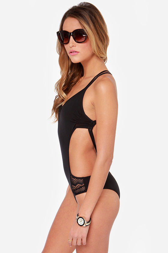 Volcom Beat Street Black One Piece Swimsuit at Lulus.com!
