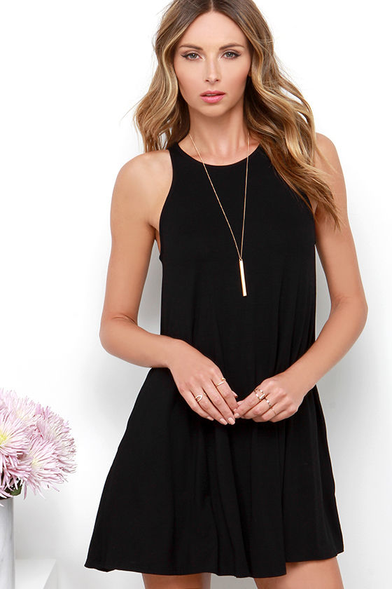 Chic Black Dress - Sleeveless Dress - LBD - Trapeze Dress - $38.00