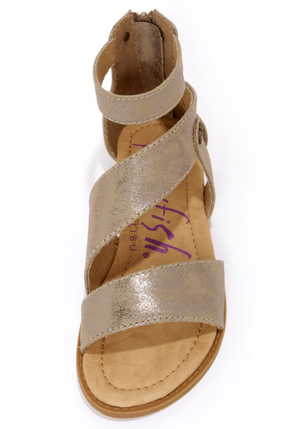 Blowfish Brink Bronze Gladiator Sandals at Lulus.com!