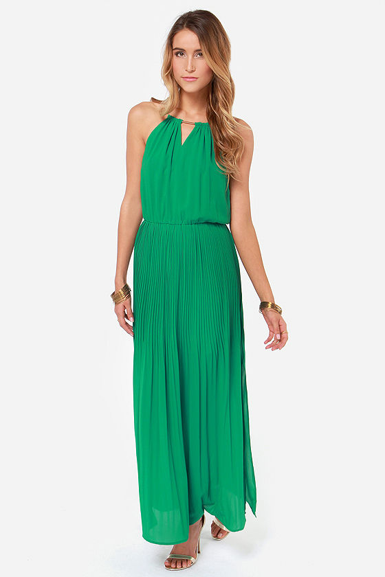 Chain-ge of Heart Green Maxi Dress at Lulus.com!