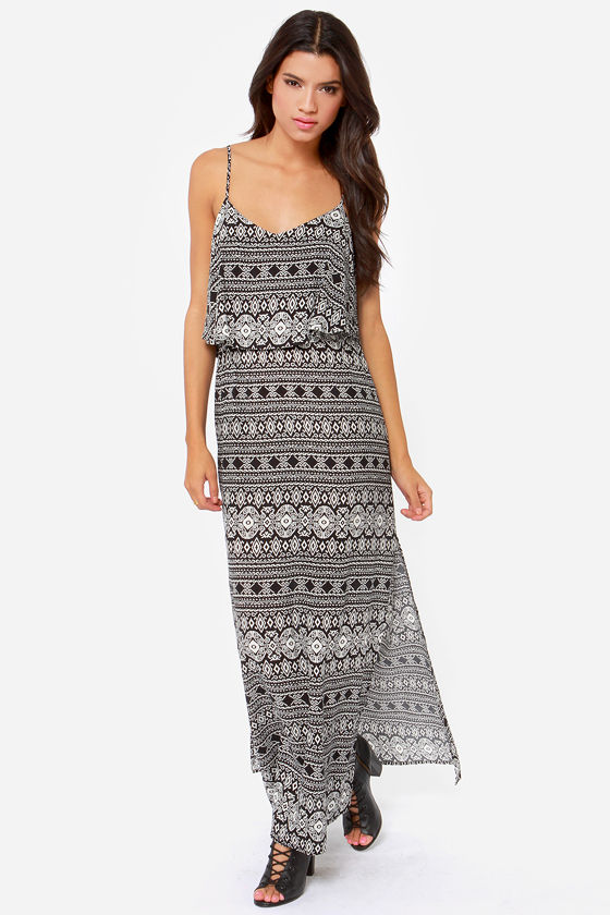 Desert Doll Black Print Maxi Dress at Lulus.com!
