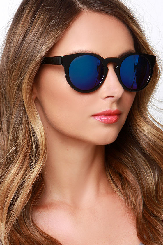 99bb207082 Cool Black Sunglasses - Blue Mirrored Sunglasses -  12.00