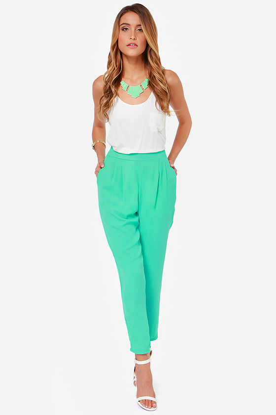 Give It Your All Mint Green Pants at Lulus.com!