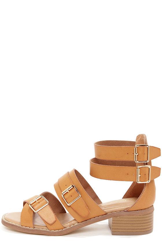 Fun Tan Sandals - Strappy Sandals - High Heel Sandals - Gladiator ...