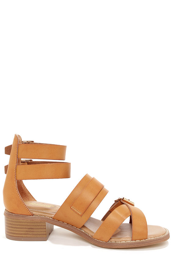 Wanted Kingdom Tan Strappy Sandals at Lulus.com!