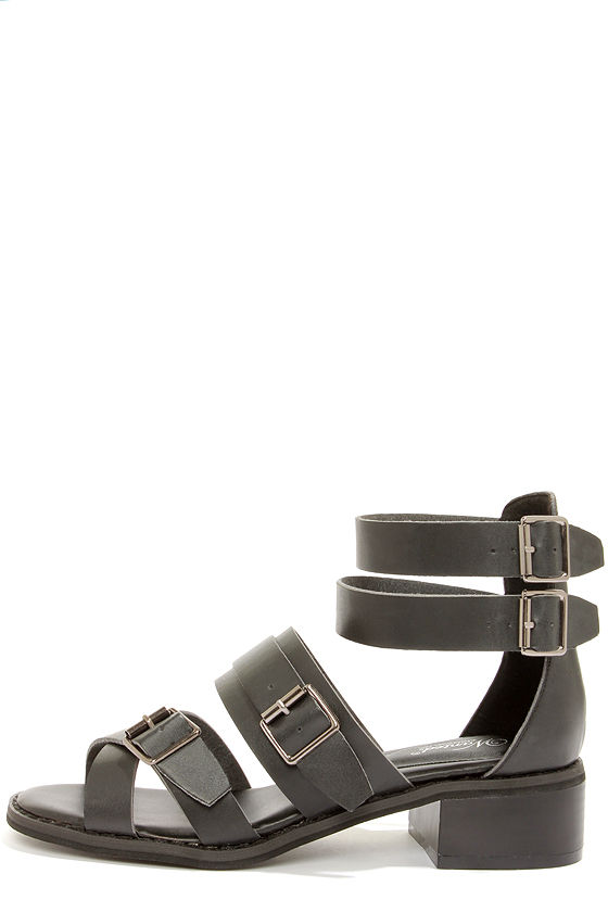 Wanted Kingdom Black Strappy Sandals at Lulus.com!