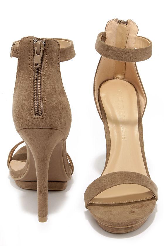 9ceae5de508f Pretty Taupe Heels - Platform Sandals - Dress Sandals -  26.00