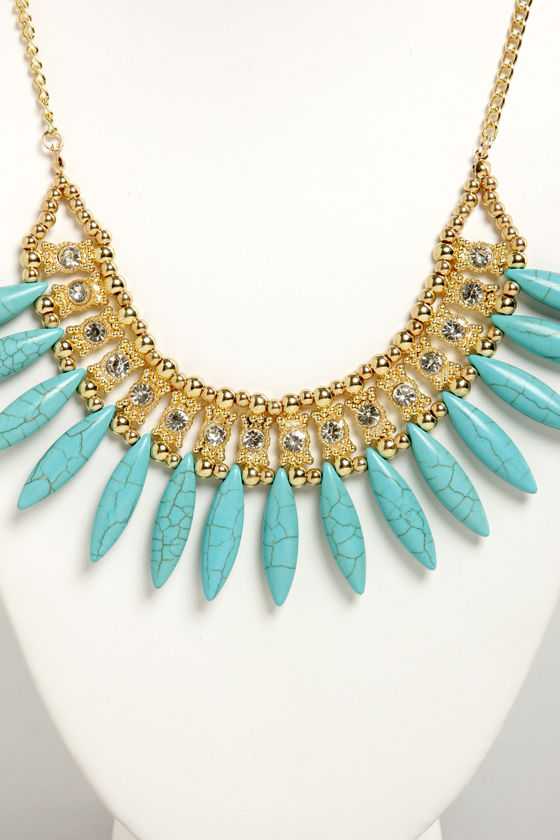 Precious Stones Turquoise Necklace at Lulus.com!