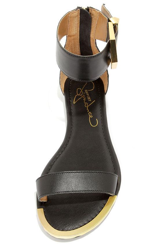 Report Signature Louie Black Ankle Strap Sandals at Lulus.com!
