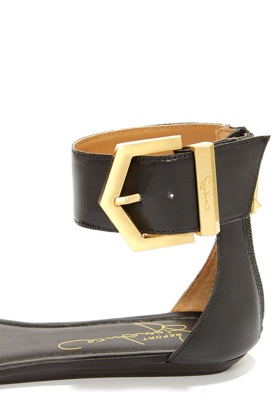 Report Signature Louie Black Ankle Strap Sandals at Lulus.com!