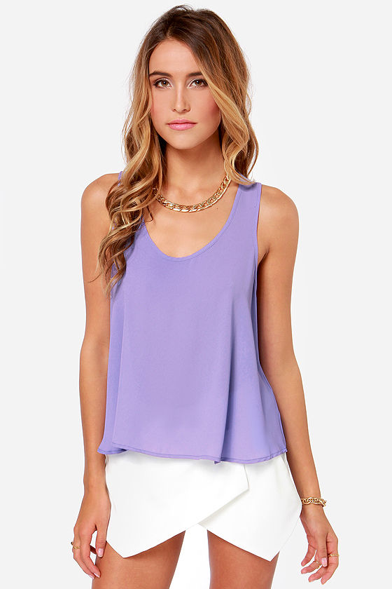 Craving Candy Lavender Top at Lulus.com!