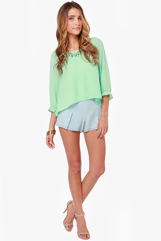 Best Day Ever Mint Green Top at Lulus.com!