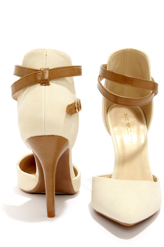 Shoe Republic LA Parrish Nude Pointed High Heels at Lulus.com!