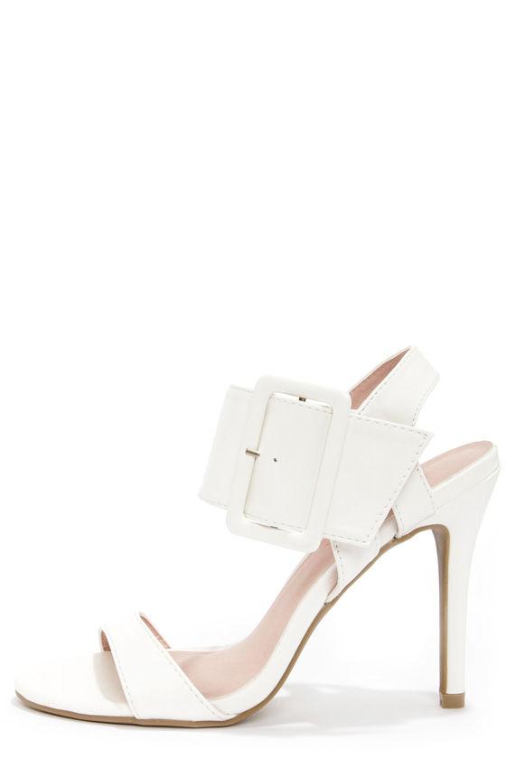 Shoe Republic LA Fabia White Dress Sandals at Lulus.com!