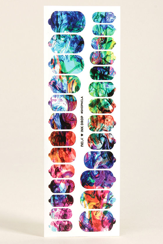 NCLA Ink Drop Nail Wraps at Lulus.com!