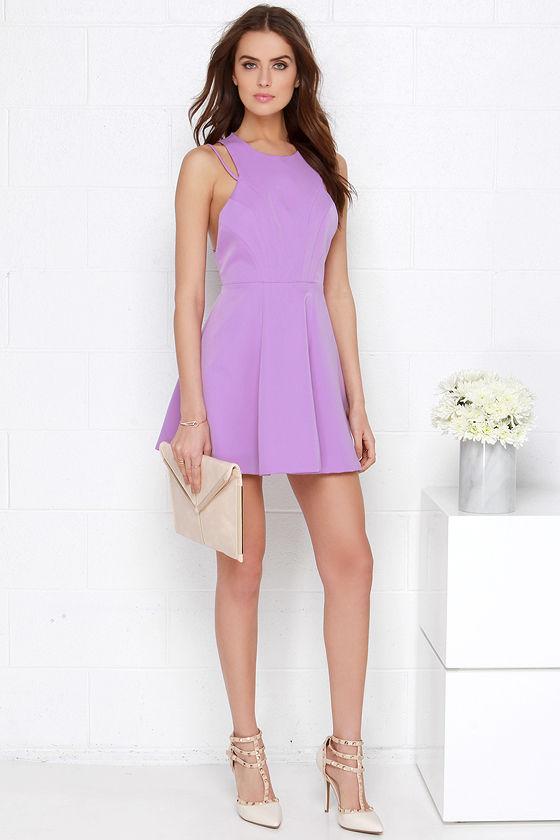 Chic Orchid Purple Dress - Skater Dress -  55.00 ce46f88aa