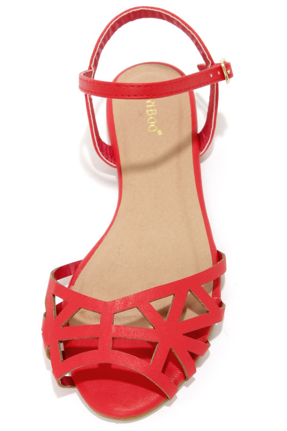 Bamboo Lynna 78 Red Sandals at Lulus.com!