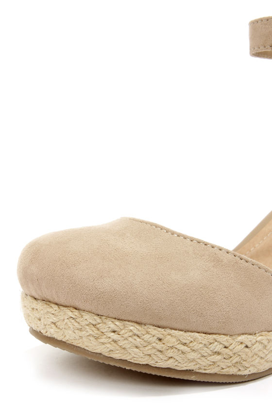 Bamboo Tessa 01 Taupe Espadrille Wedges at Lulus.com!