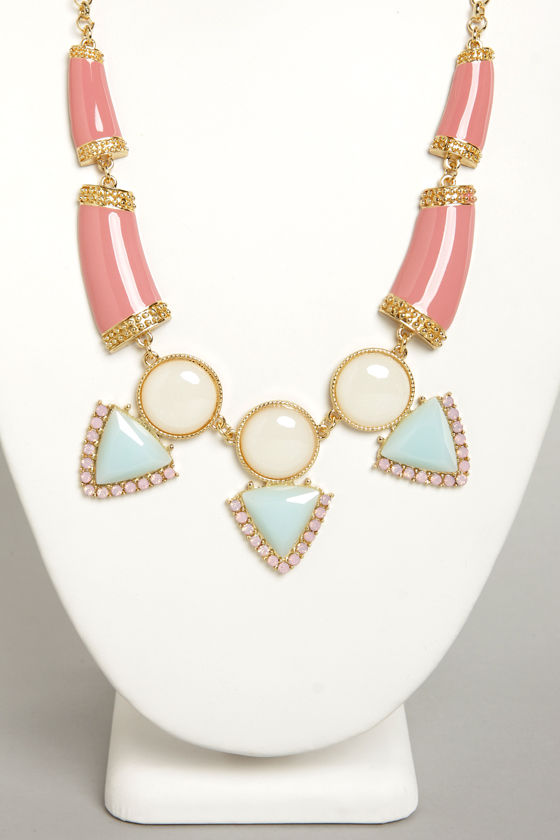Gem and Us Pink Rhinestone Necklace at Lulus.com!