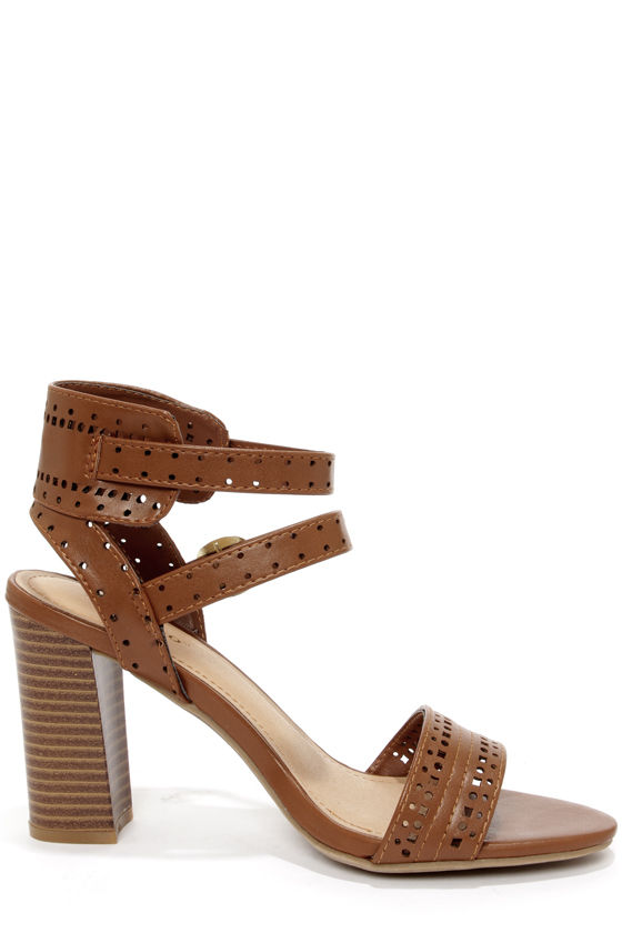 Bamboo Kendria 03 Chestnut Cutout High Heels at Lulus.com!