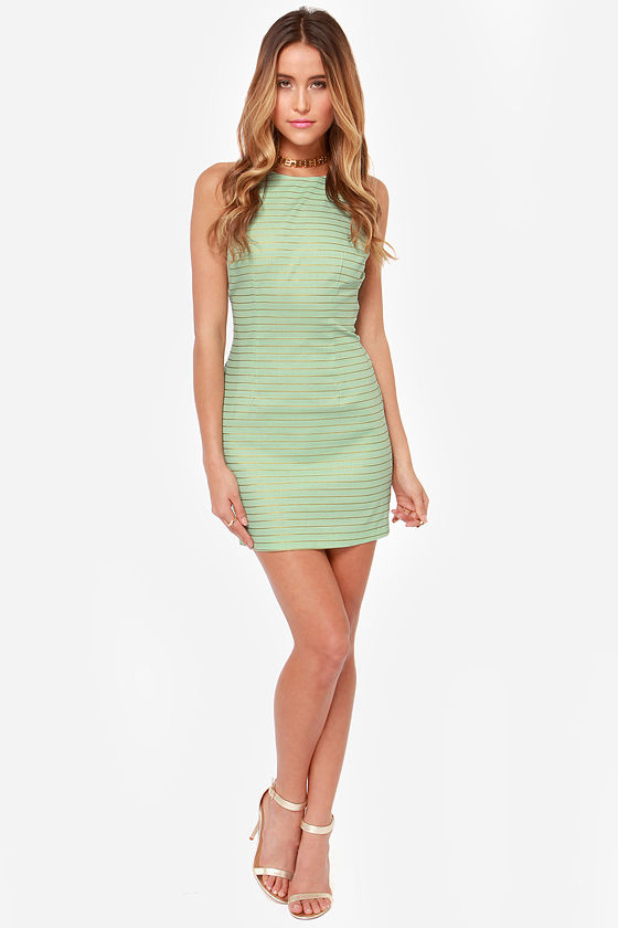 BB Dakota Doris Striped Mint Green Dress at Lulus.com!