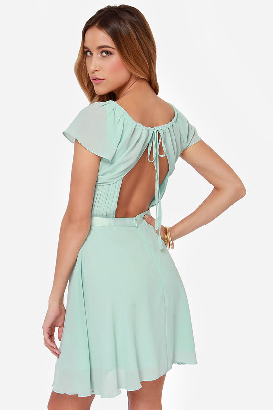 Sweet Escape Mint Blue Dress at Lulus.com!