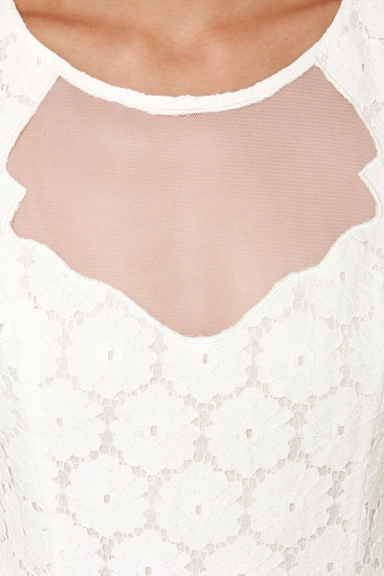 Don't Wanna Bliss a Thing Ivory Lace Dress at Lulus.com!
