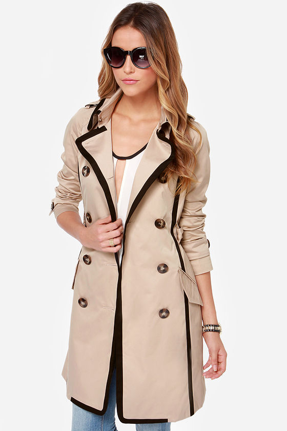 cool beige coat black and beige coat trench coat. Black Bedroom Furniture Sets. Home Design Ideas