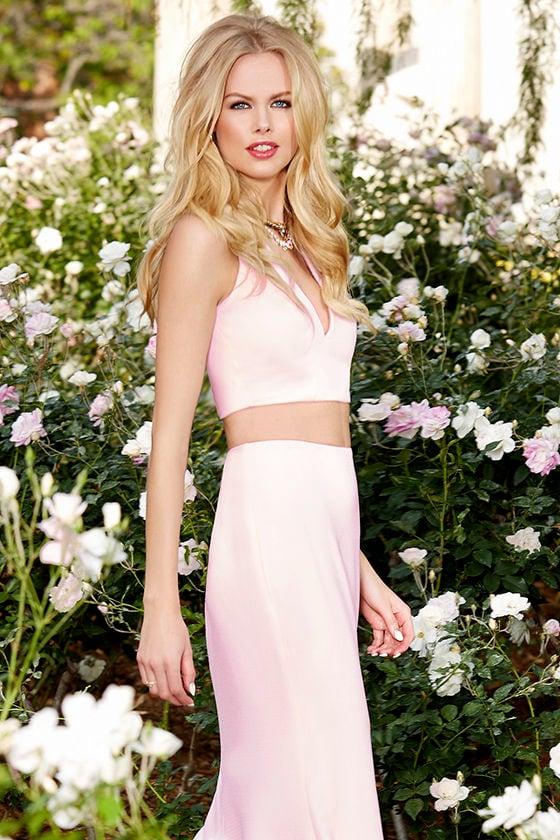 0c908e70e27 Light Pink Maxi Dress - Sexy Two-Piece Dress - $119.00