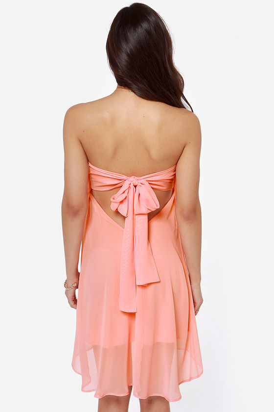 LULUS Exclusive Breathtaking The Cake Strapless Peach Dress at Lulus.com!