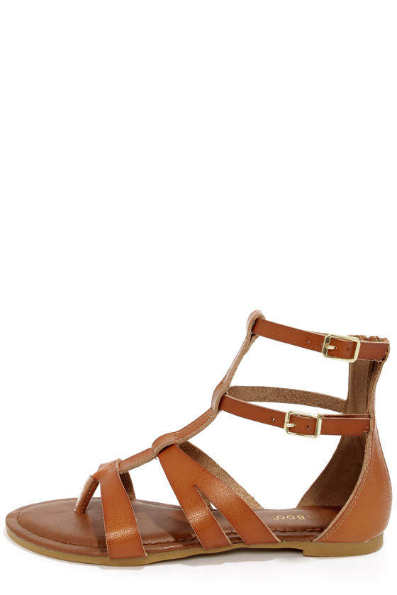 Cute Gladiator Sandals - Thong Sandals - Brown Sandals -  31.00