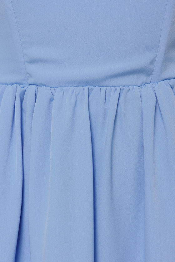 Make a Wish Off-the-Shoulder Periwinkle Dress at Lulus.com!