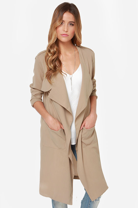 On My Mind Beige Jacket at Lulus.com!