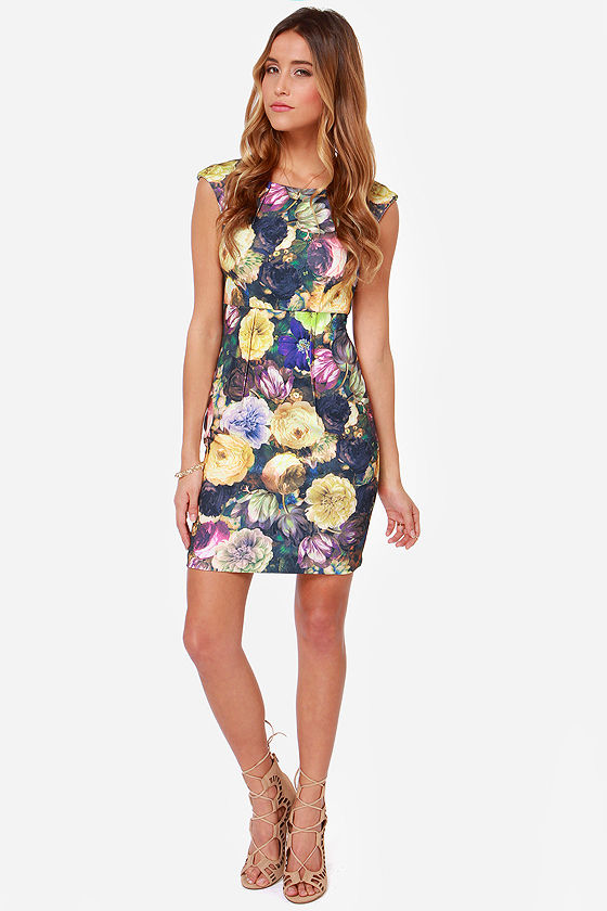 Darling Layla Floral Print Dress at Lulus.com!