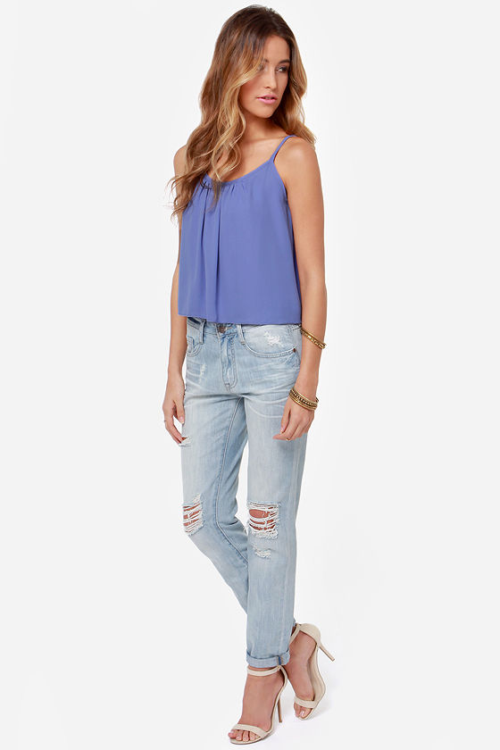 An Open Mind Purple Top at Lulus.com!
