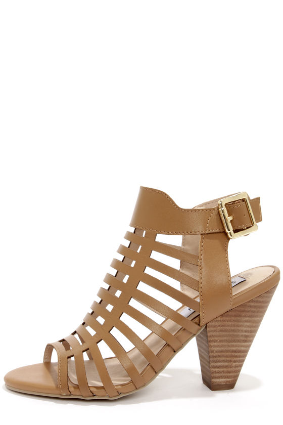 Steve Madden Lulus | Cadence Cognac Leather High Heel Sandal Heels | Size 10 from Lulus | Shop