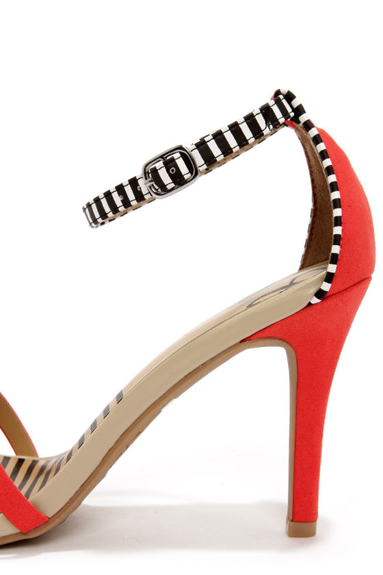 Dolce Vita Suki Candy Apple Striped Single Sole Heels at Lulus.com!