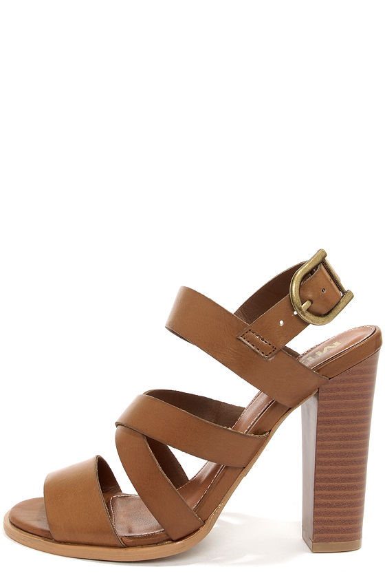 Chic Tan Sandals - High Heel Sandals - Strappy Sandals - $65.00