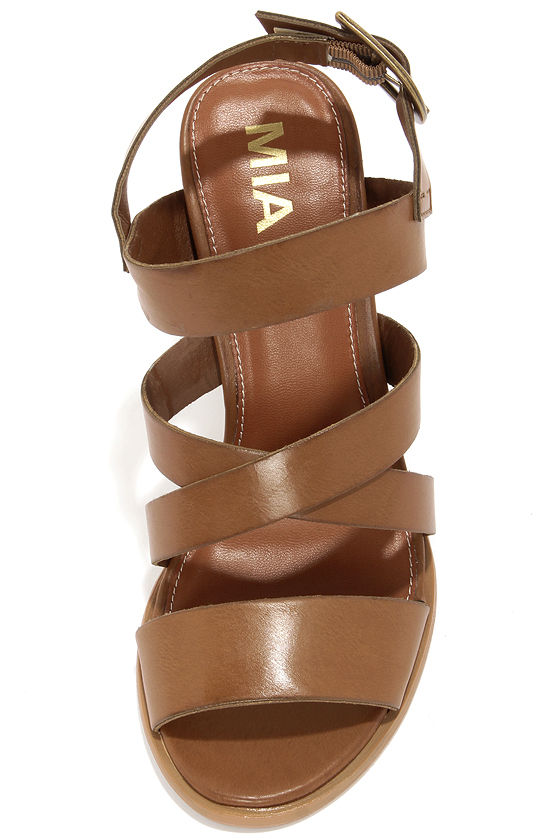 Mia Taylor Tan High Heel Sandals at Lulus.com!