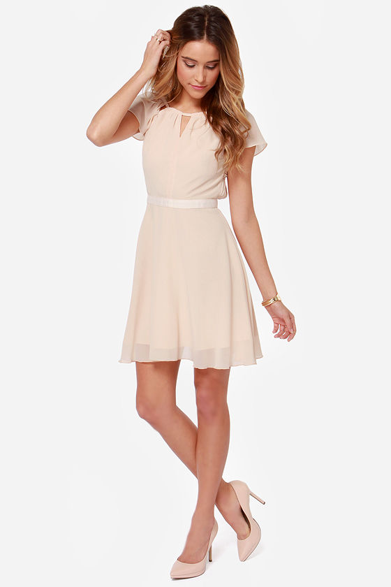 Sweet Escape Light Peach Dress at Lulus.com!