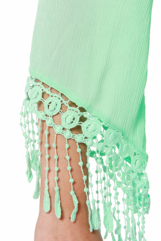 Fest Dressed Crochet Mint Green Top at Lulus.com!