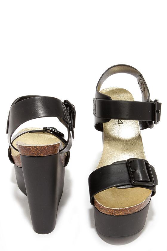 03522ac65f174f Cute Black Wedges - Platform Wedges - Wedge Sandals -  32.00
