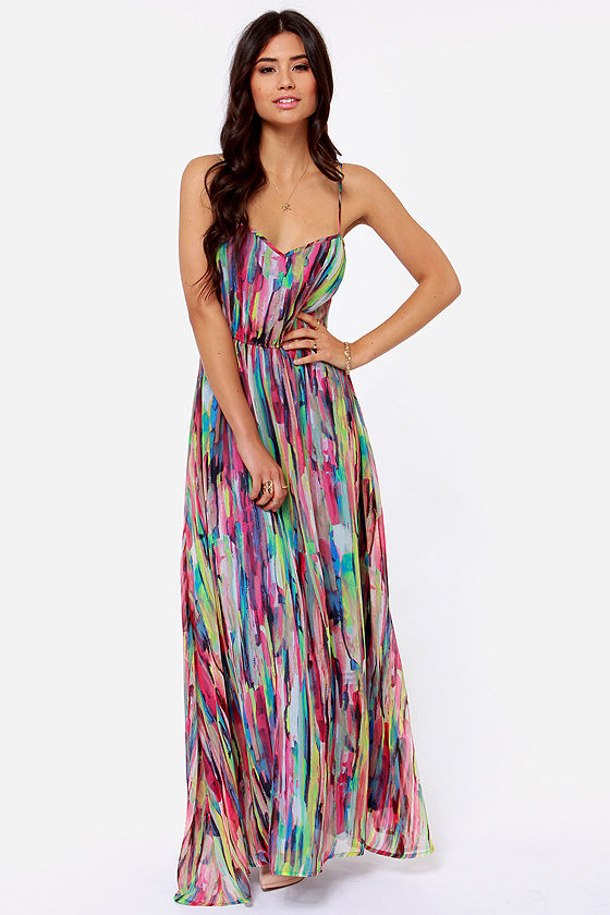 Collection Colorful Maxi Dress Pictures - Reikian