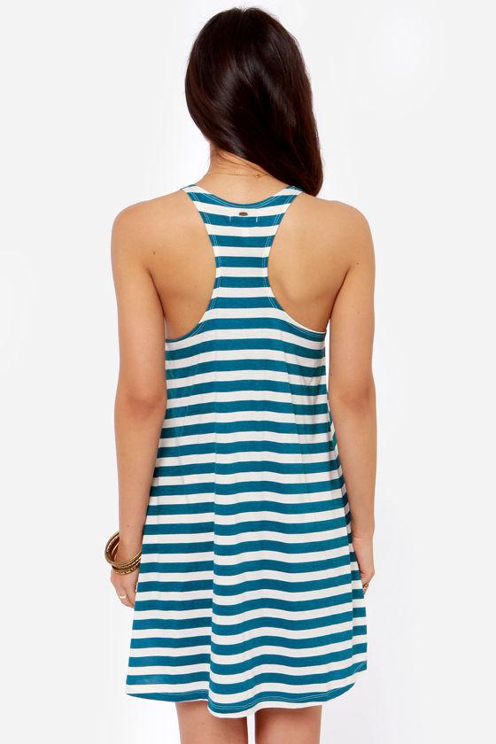 O'Neill Natalia Blue Striped Dress at Lulus.com!
