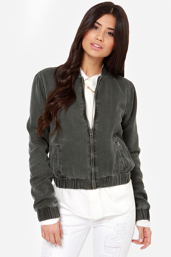 Obey Secret Society Charcoal Grey Jacket at Lulus.com!