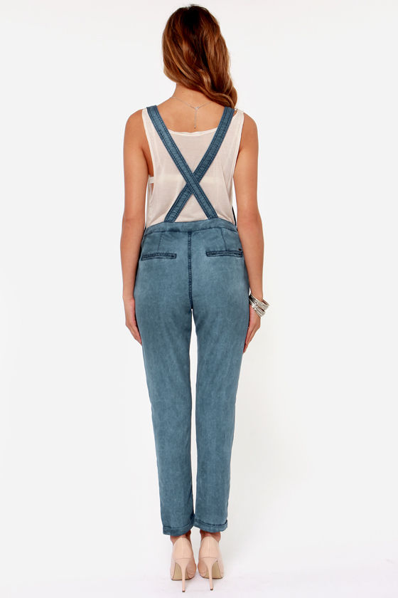 Obey Alexia Blue Overalls at Lulus.com!