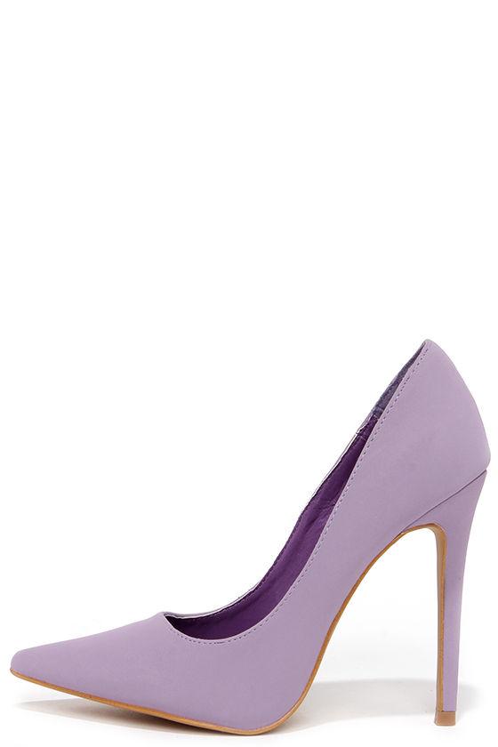 bc06e68a528 Cute Lavender Pumps - Pointed Pumps - Lavender Heels -  33.00