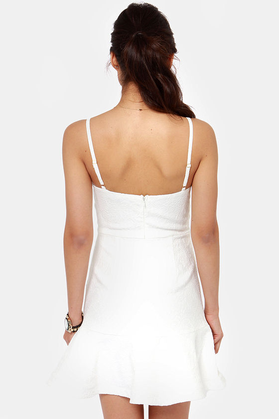 Go Figure White Bustier Dress at Lulus.com!